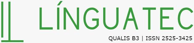 Logo da revista LínguaTec em verde. Qualis B3
